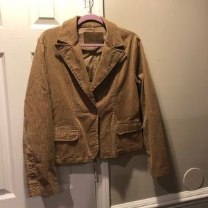 Duck Head Tan Corduroy Blazer Large